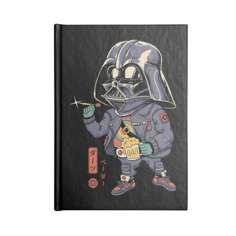 Darts Vader Accessories Notebook by Vincent Trinidad Art