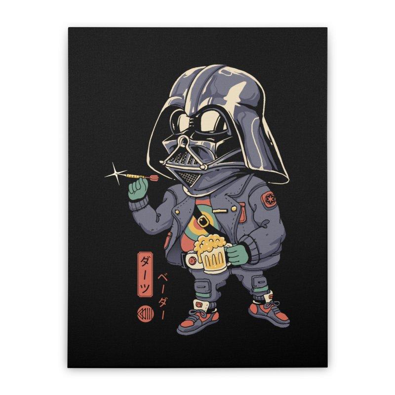 Darts Vader Home Stretched Canvas by Vincent Trinidad Art
