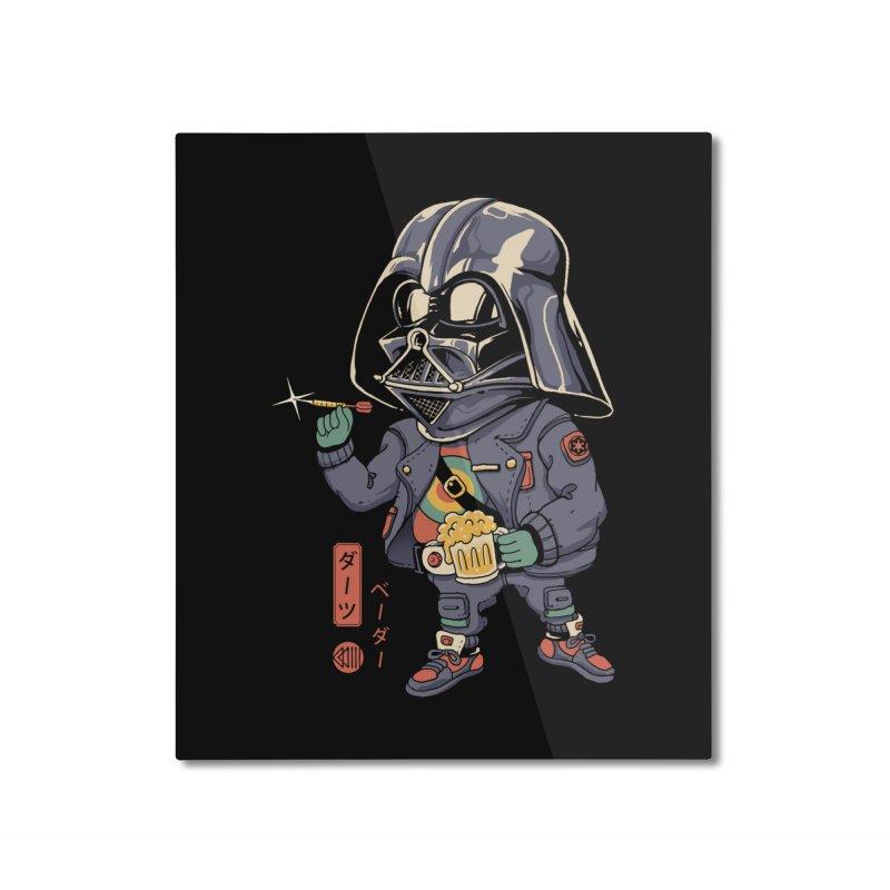 Darts Vader Home Mounted Aluminum Print by Vincent Trinidad Art