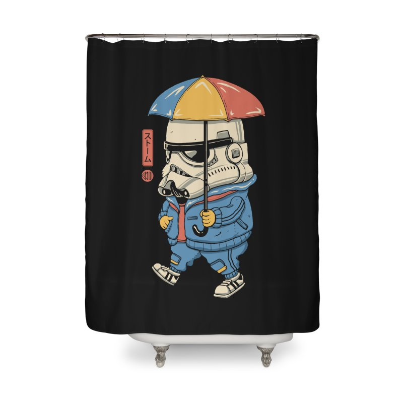 Bucket Head Home Shower Curtain by Vincent Trinidad Art
