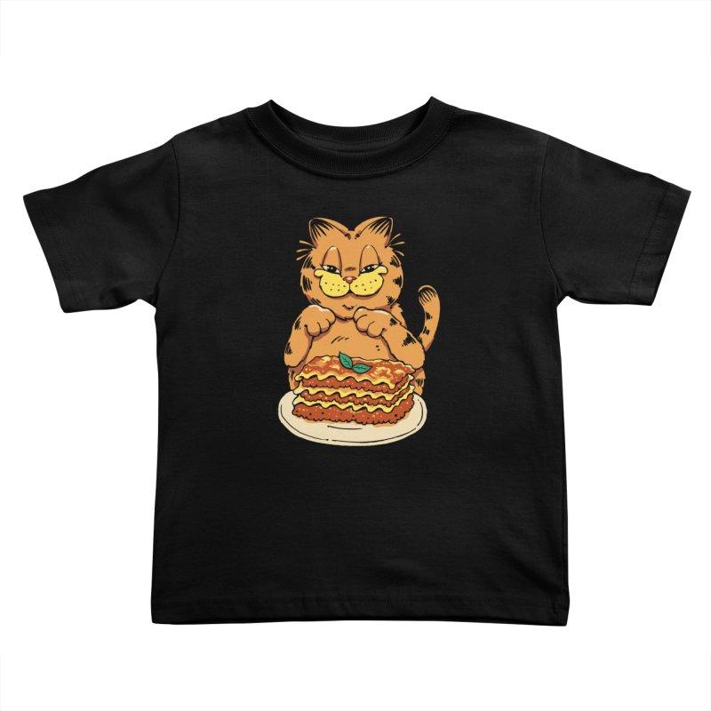Lasagna Cat Kids Toddler T-Shirt by Vincent Trinidad Art