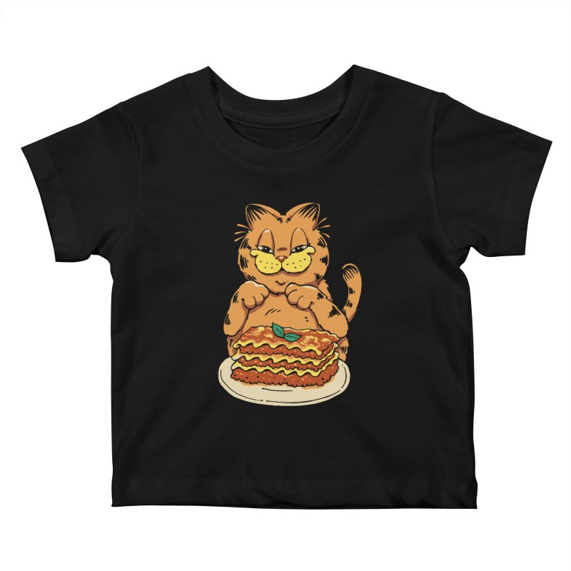 Lasagna Cat Kids Baby T-Shirt by Vincent Trinidad Art