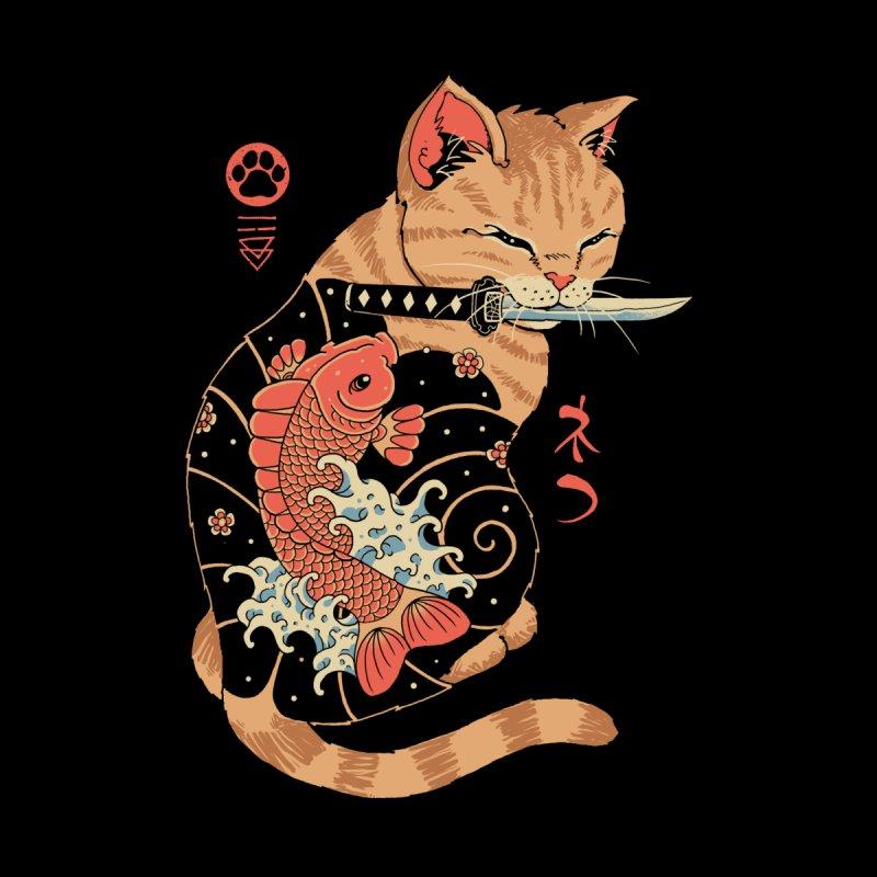 Carp Tattooed Cat Men's T-Shirt by Vincent Trinidad Art
