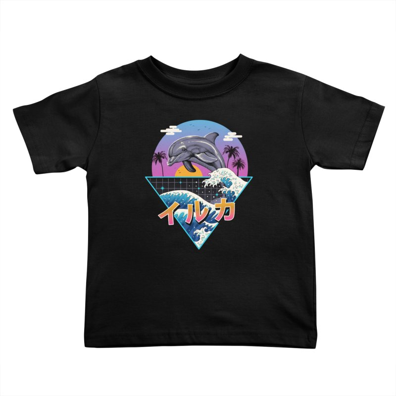 Dolphin Wave Kids Toddler T-Shirt by Vincent Trinidad Art