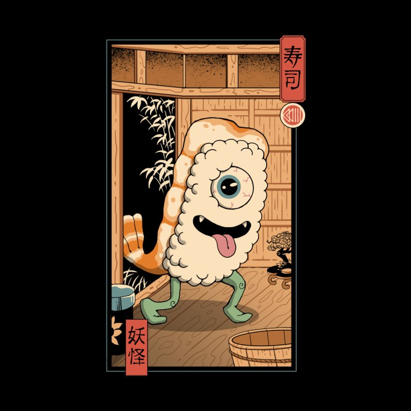 Yokai Sushi in Edo Accessories Face Mask by Vincent Trinidad Art