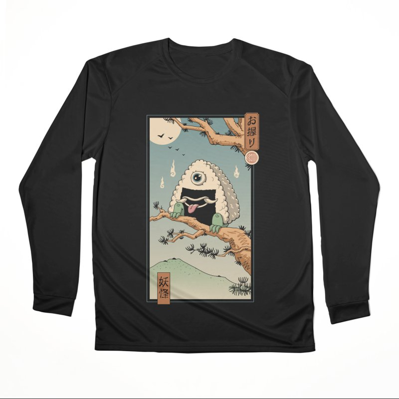 Yokai Onigiri in Edo Women's Longsleeve T-Shirt by Vincent Trinidad Art