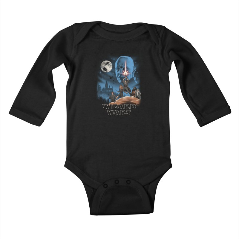Wizard Wars Kids Baby Longsleeve Bodysuit by vincenttrinidad's Artist Shop