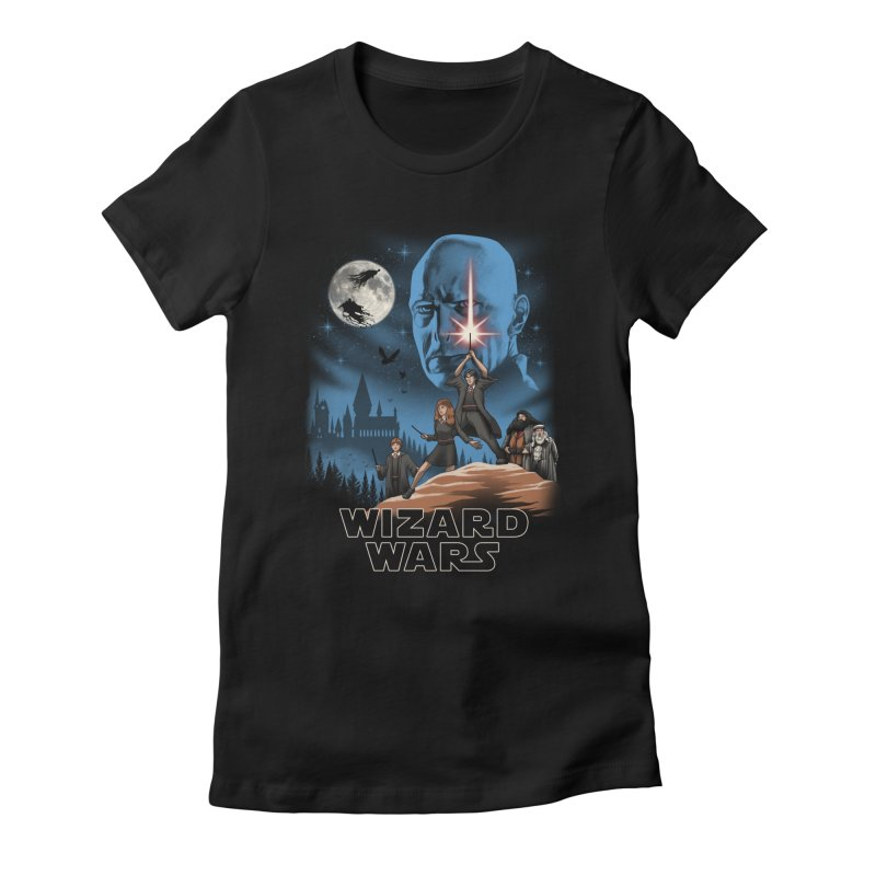 Wizard Wars Women's Fitted T-Shirt by vincenttrinidad's Artist Shop
