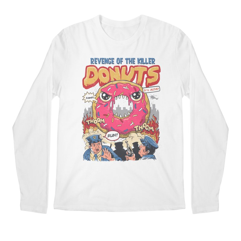 Revenge of the Killer Donuts Men's Longsleeve T-Shirt by vincenttrinidad's Artist Shop