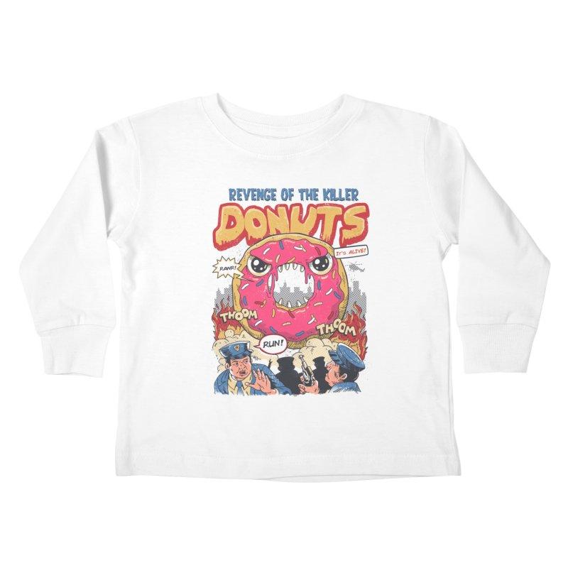 Revenge of the Killer Donuts Kids Toddler Longsleeve T-Shirt by vincenttrinidad's Artist Shop
