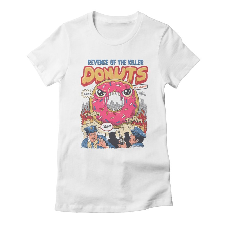 Revenge of the Killer Donuts Women's Fitted T-Shirt by vincenttrinidad's Artist Shop