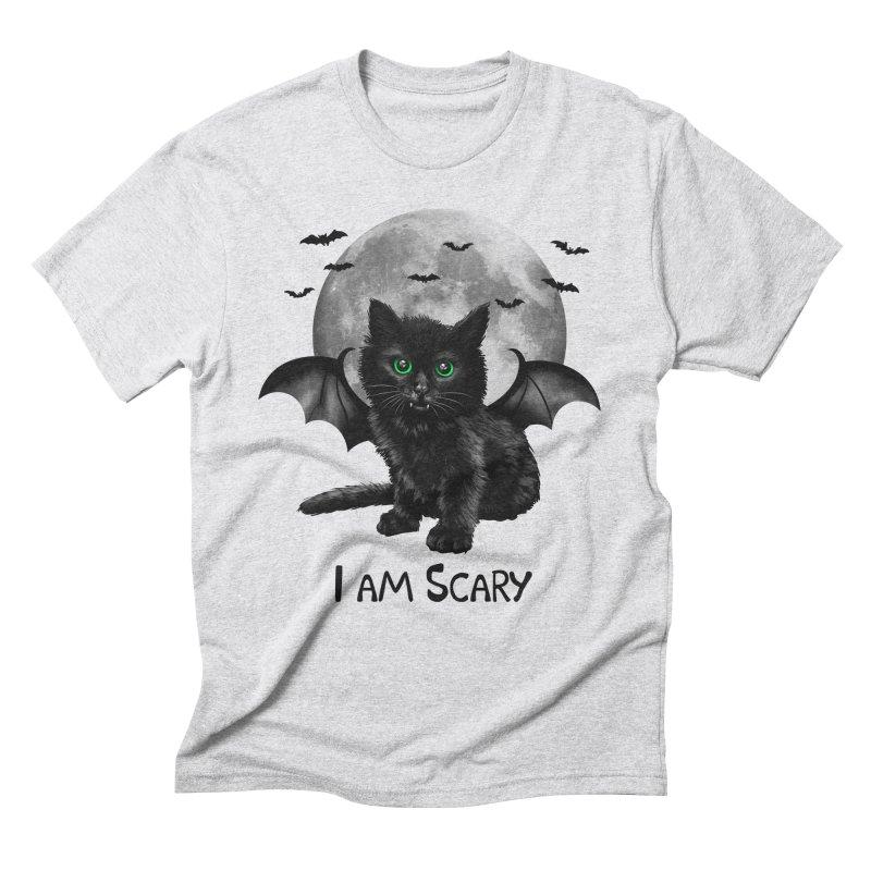 Scary Cat Men's Triblend T-shirt by vincenttrinidad's Artist Shop