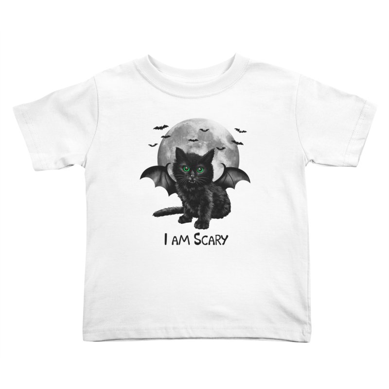 Scary Cat Kids Toddler T-Shirt by vincenttrinidad's Artist Shop