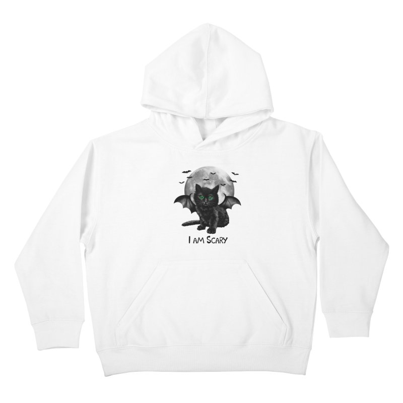 Scary Cat Kids Pullover Hoody by vincenttrinidad's Artist Shop