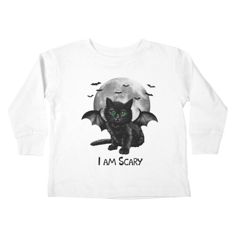 Scary Cat Kids Toddler Longsleeve T-Shirt by vincenttrinidad's Artist Shop