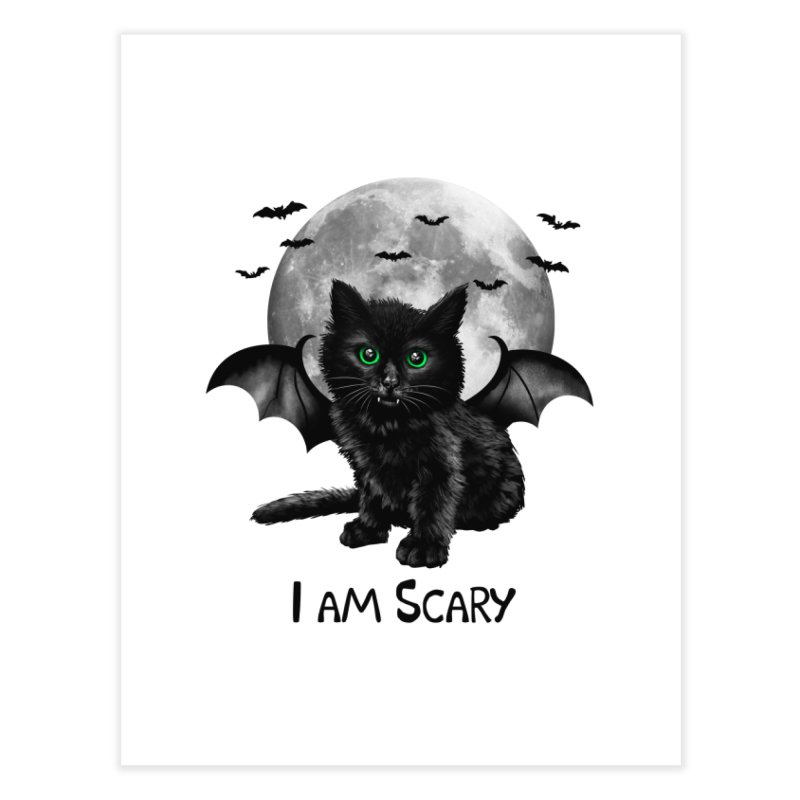 Scary Cat Home Fine Art Print by vincenttrinidad's Artist Shop