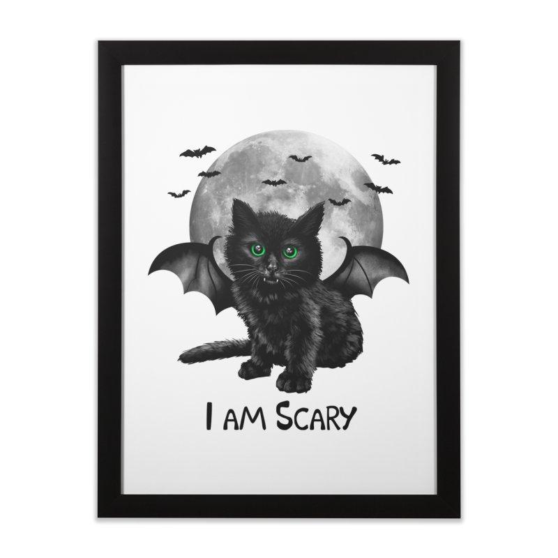 Scary Cat Home Framed Fine Art Print by vincenttrinidad's Artist Shop