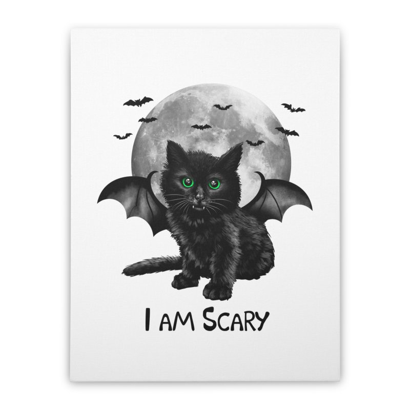 Scary Cat Home Stretched Canvas by vincenttrinidad's Artist Shop