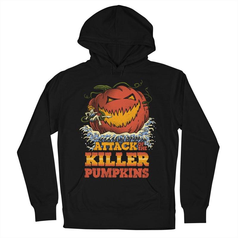 Attack of the Killer Pumpkins  Women's Pullover Hoody by vincenttrinidad's Artist Shop