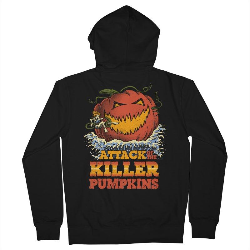 Attack of the Killer Pumpkins  Women's Zip-Up Hoody by vincenttrinidad's Artist Shop