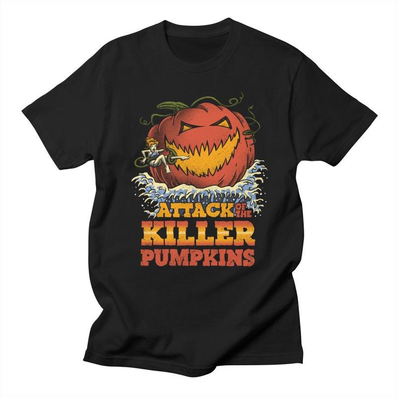 Attack of the Killer Pumpkins  Women's Unisex T-Shirt by vincenttrinidad's Artist Shop
