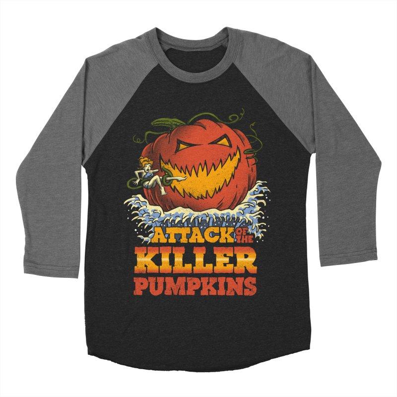 Attack of the Killer Pumpkins  Women's Baseball Triblend T-Shirt by vincenttrinidad's Artist Shop