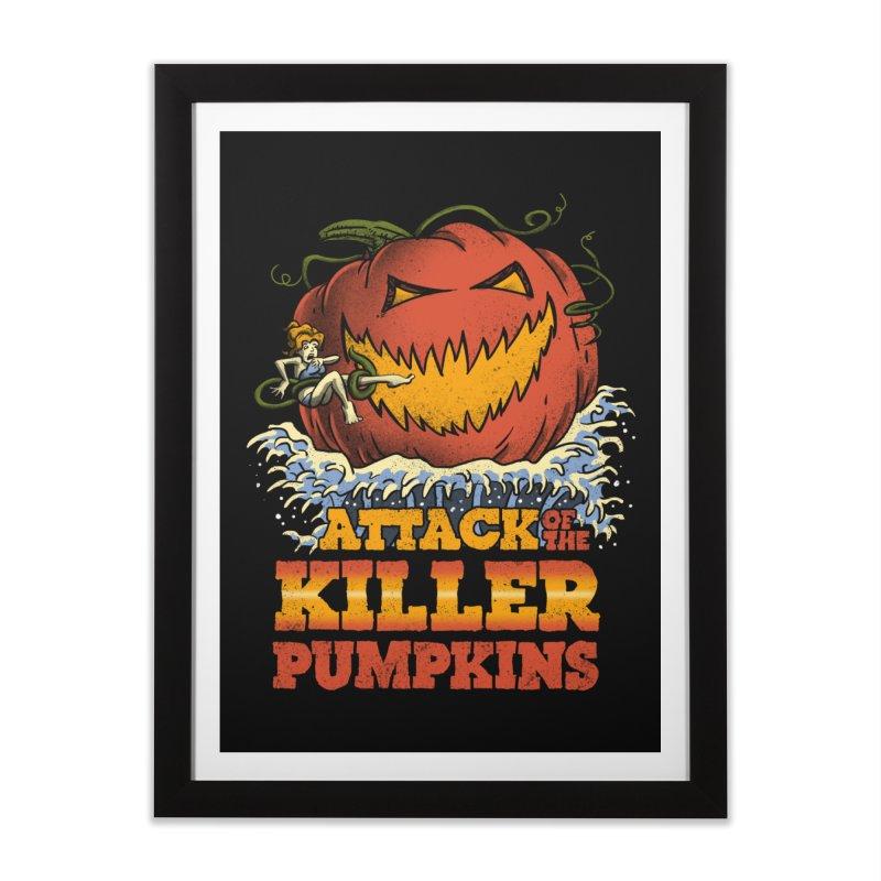 Attack of the Killer Pumpkins  Home Framed Fine Art Print by vincenttrinidad's Artist Shop