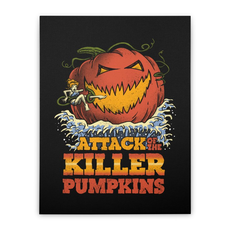 Attack of the Killer Pumpkins  Home Stretched Canvas by vincenttrinidad's Artist Shop