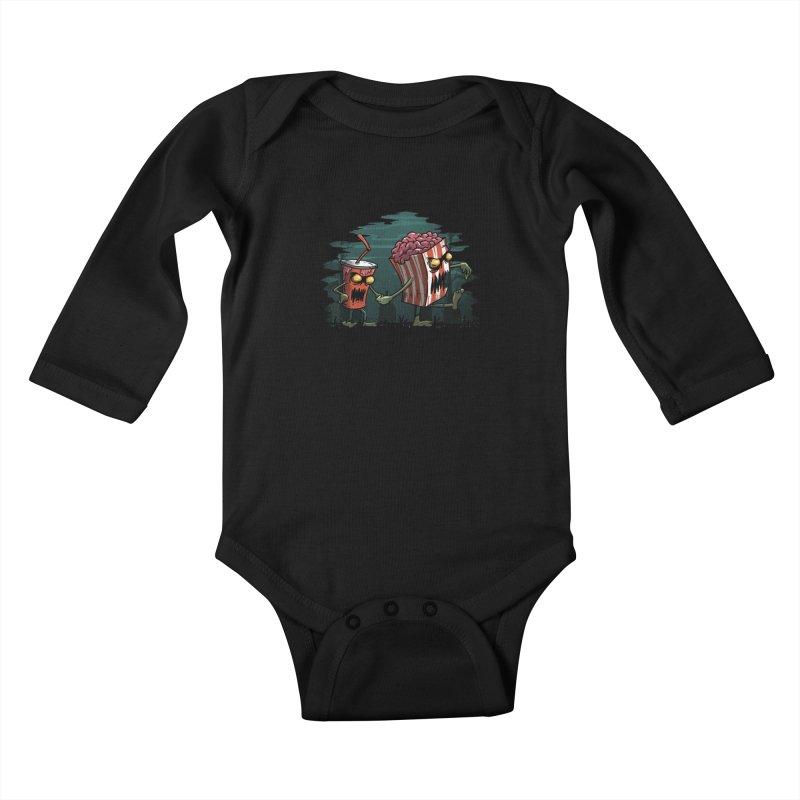 Horror Movie Essentials Kids Baby Longsleeve Bodysuit by vincenttrinidad's Artist Shop