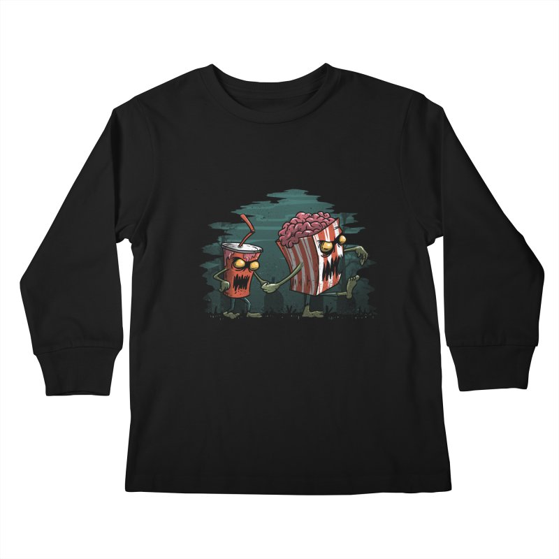 Horror Movie Essentials Kids Longsleeve T-Shirt by vincenttrinidad's Artist Shop