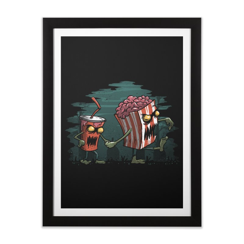 Horror Movie Essentials Home Framed Fine Art Print by vincenttrinidad's Artist Shop