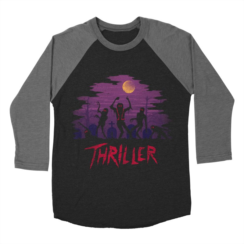 Thriller Men's Baseball Triblend T-Shirt by vincenttrinidad's Artist Shop