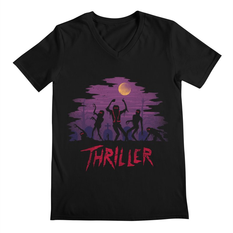 Thriller Men's V-Neck by vincenttrinidad's Artist Shop