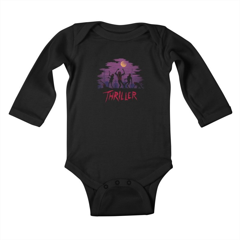 Thriller Kids Baby Longsleeve Bodysuit by vincenttrinidad's Artist Shop