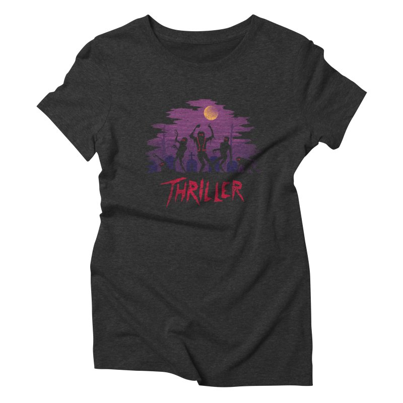 Thriller Women's Triblend T-shirt by vincenttrinidad's Artist Shop