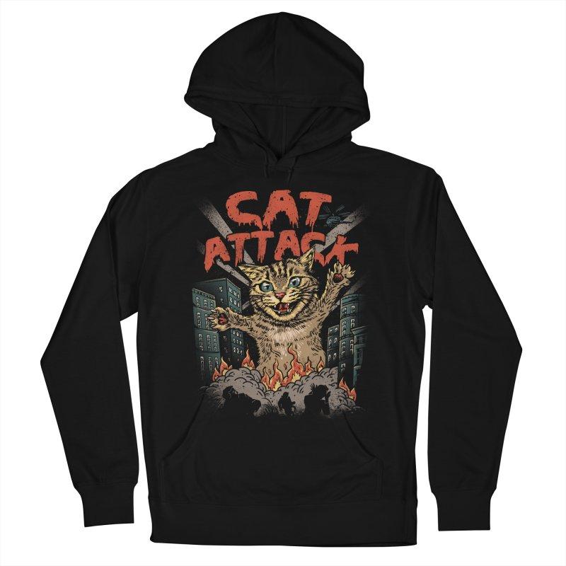 Cat Attack Men's Pullover Hoody by vincenttrinidad's Artist Shop