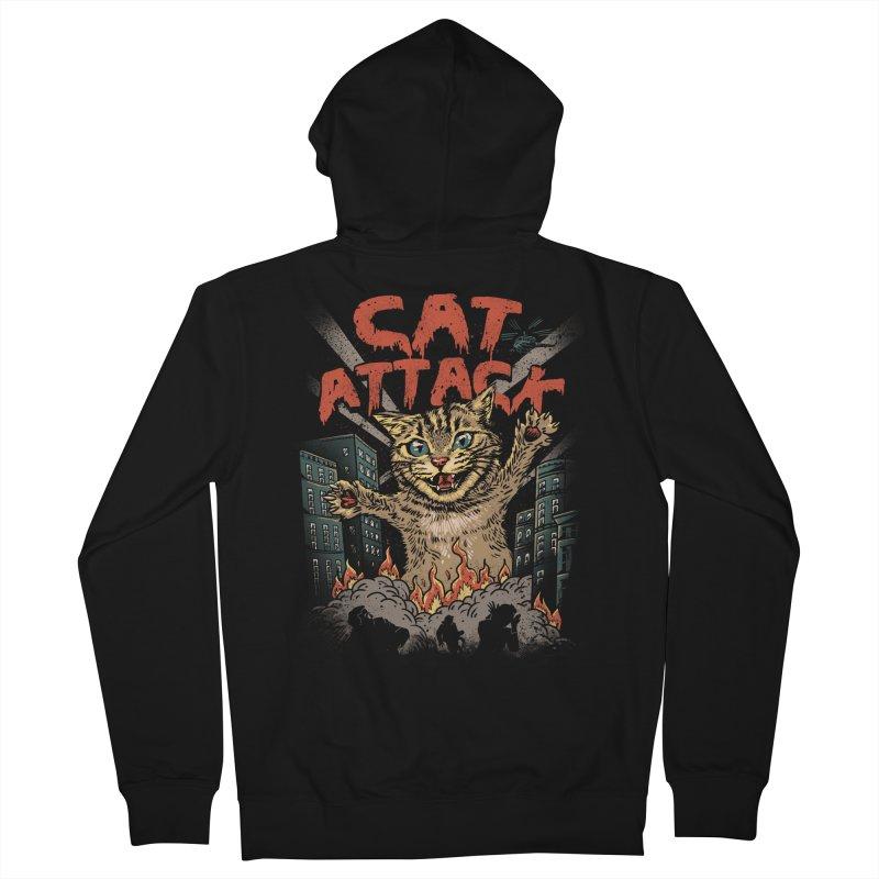 Cat Attack Women's Zip-Up Hoody by vincenttrinidad's Artist Shop