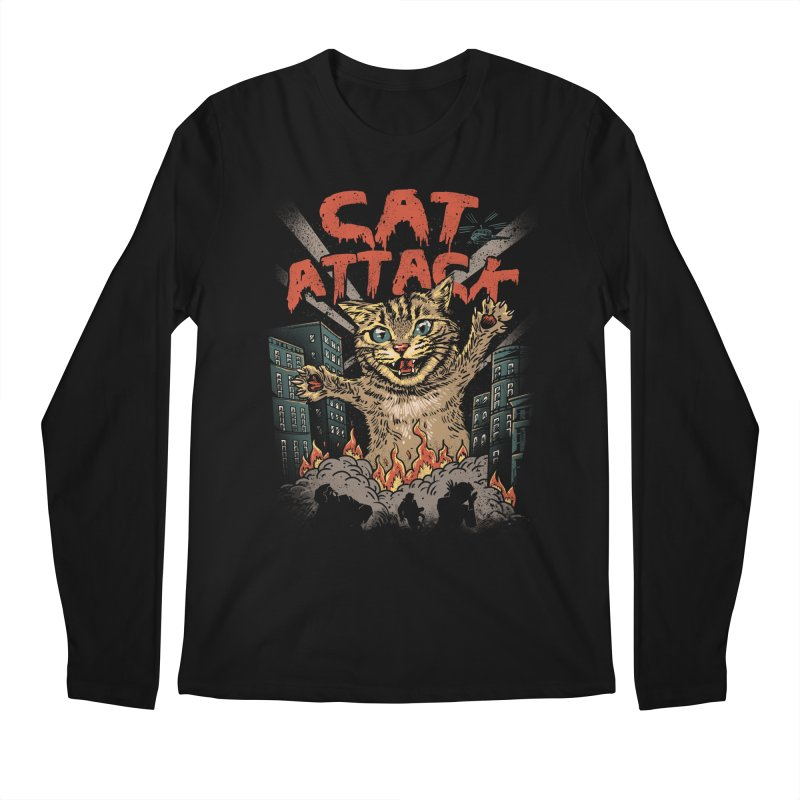 Cat Attack Men's Longsleeve T-Shirt by vincenttrinidad's Artist Shop