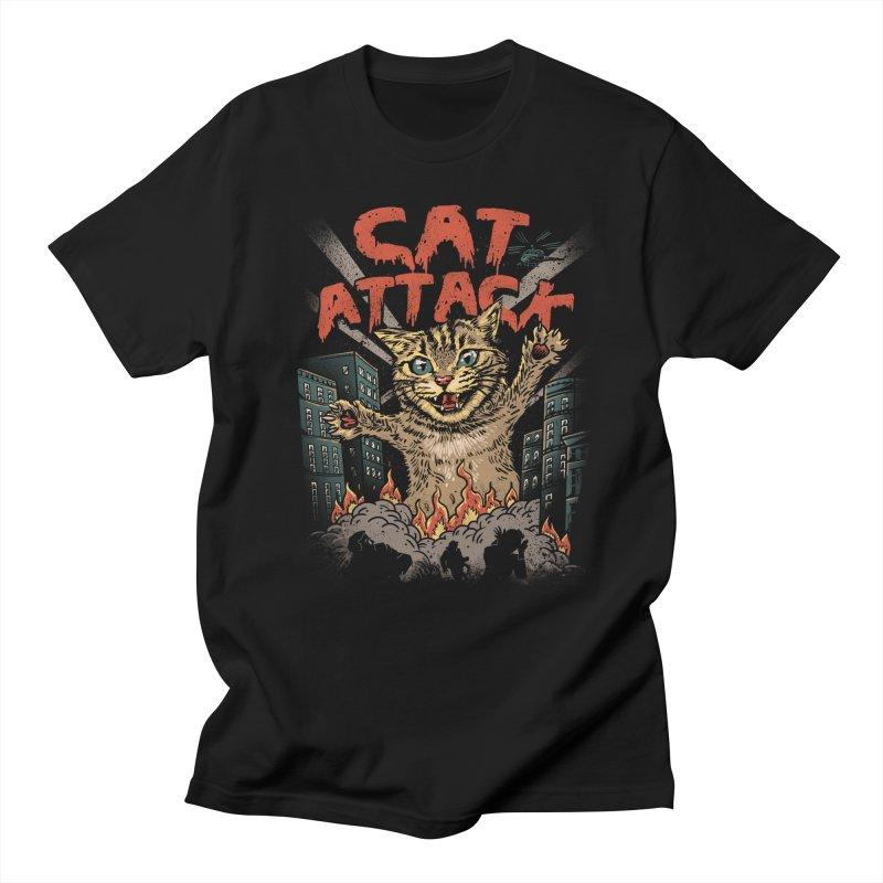 Cat Attack Men's T-shirt by vincenttrinidad's Artist Shop
