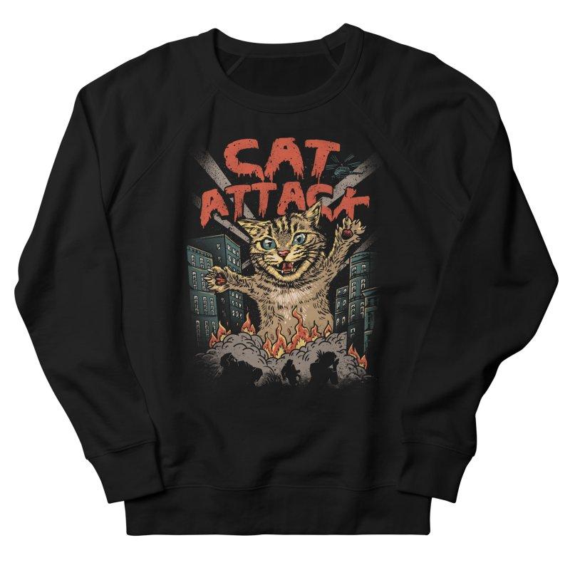 Cat Attack Men's Sweatshirt by vincenttrinidad's Artist Shop