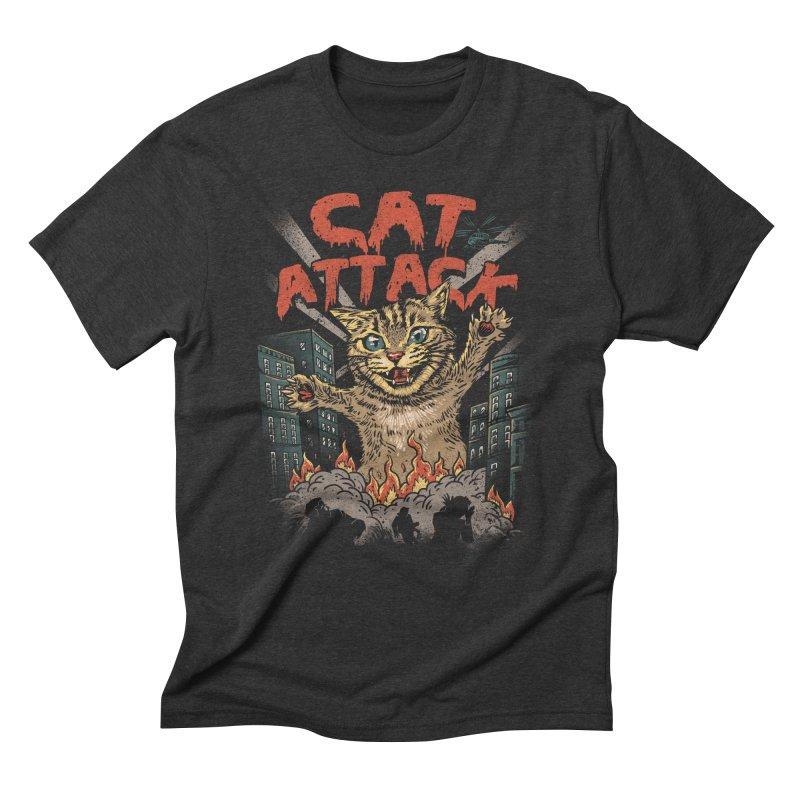 Cat Attack Men's Triblend T-shirt by vincenttrinidad's Artist Shop