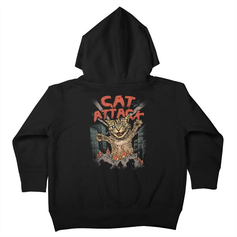 Cat Attack Kids Toddler Zip-Up Hoody by vincenttrinidad's Artist Shop