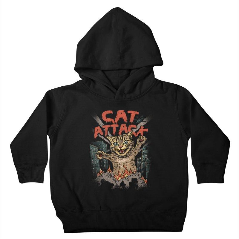 Cat Attack Kids Toddler Pullover Hoody by vincenttrinidad's Artist Shop