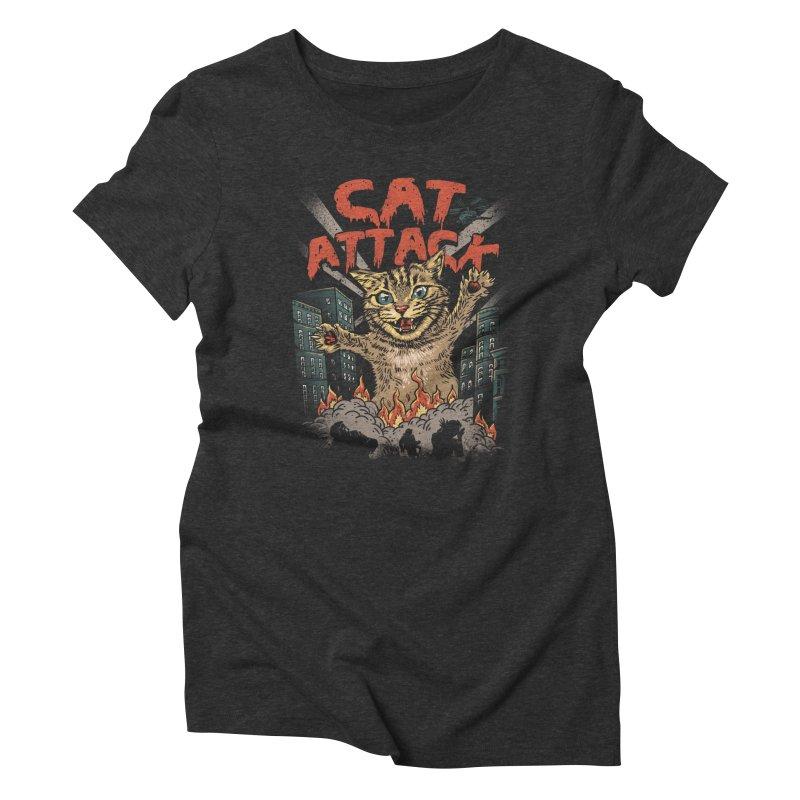 Cat Attack Women's Triblend T-shirt by vincenttrinidad's Artist Shop