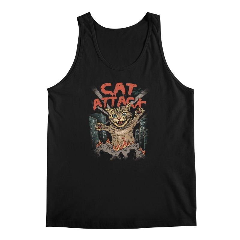 Cat Attack Men's Tank by vincenttrinidad's Artist Shop