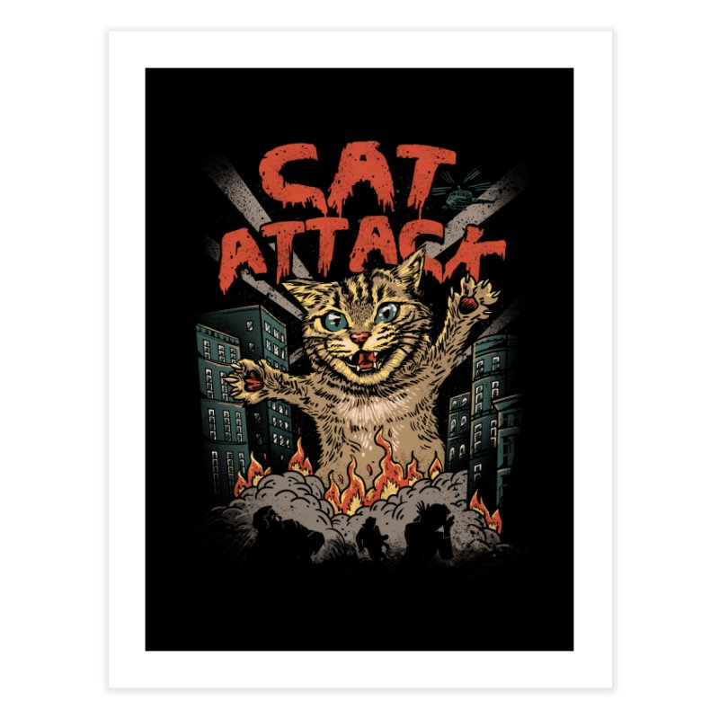Cat Attack Home Fine Art Print by vincenttrinidad's Artist Shop
