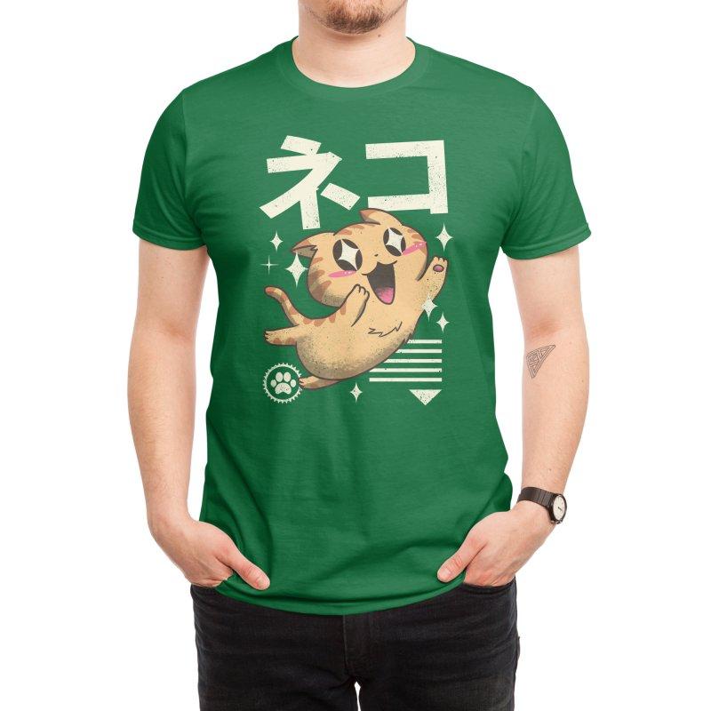 Kawaii Feline Men's T-Shirt by Vincent Trinidad Art