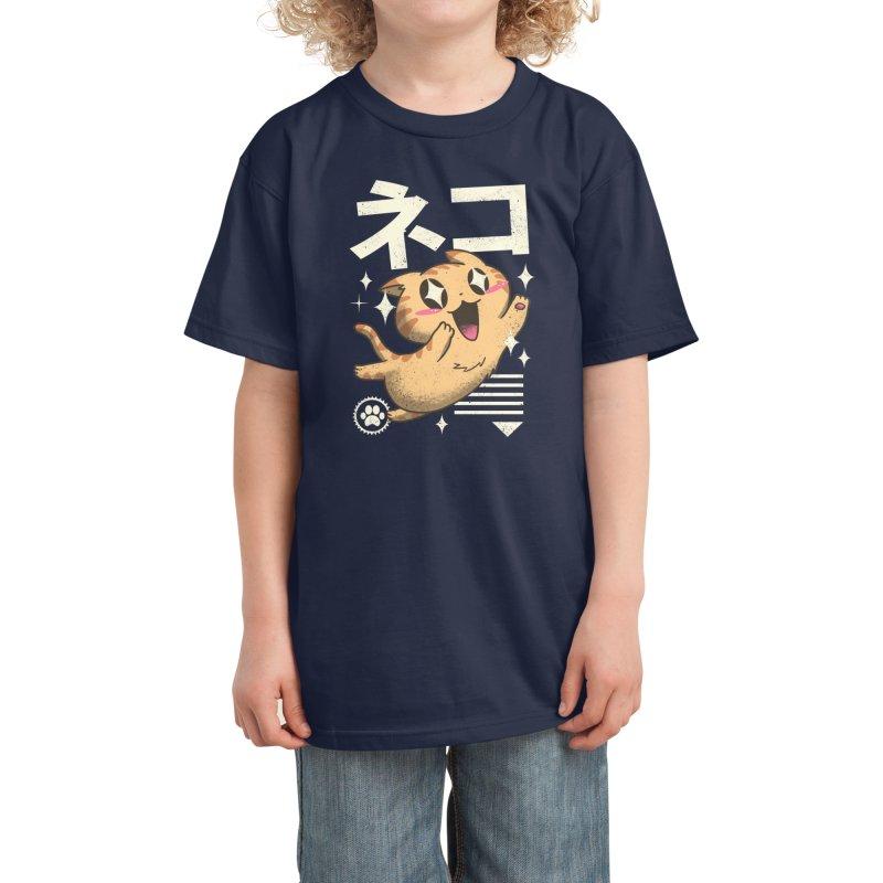 Kawaii Feline Kids T-Shirt by Vincent Trinidad Art