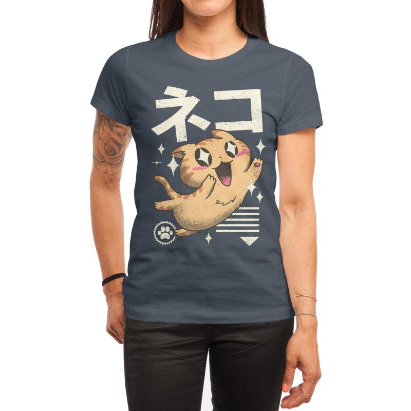 Kawaii Feline Women's T-Shirt by Vincent Trinidad Art