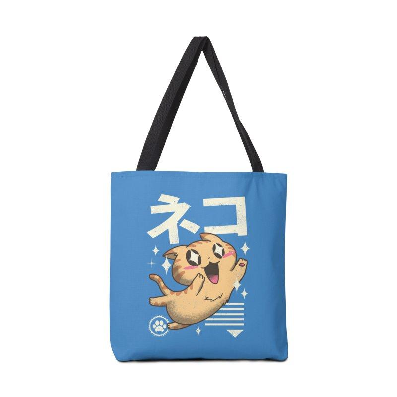 Kawaii Feline Accessories Bag by Vincent Trinidad Art